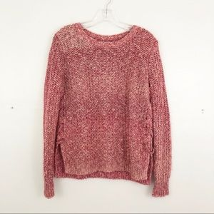 Lucky Brand lace up sweater